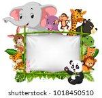 vector illustration of wild... | Shutterstock .eps vector #1018450510