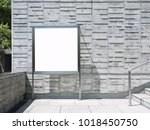 blank signage mock up board... | Shutterstock . vector #1018450750