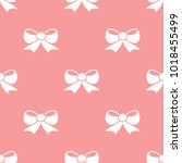 seamless bow pattern. love... | Shutterstock .eps vector #1018455499