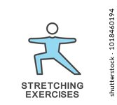 icon stretching exercises.... | Shutterstock .eps vector #1018460194