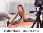 being vigorous. beautiful... | Shutterstock . vector #1018461949