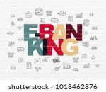 finance concept  painted... | Shutterstock . vector #1018462876