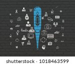 health concept  painted blue...   Shutterstock . vector #1018463599