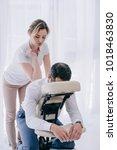 professional masseuse doing... | Shutterstock . vector #1018463830