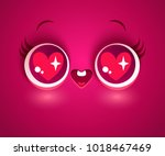 vector illustration of cute... | Shutterstock .eps vector #1018467469