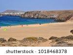 playa de mujeres view on... | Shutterstock . vector #1018468378