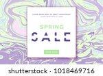 spring sale horizontal banner... | Shutterstock .eps vector #1018469716