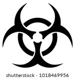 biohazard symbol silhouette | Shutterstock .eps vector #1018469956