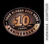 10 years anniversary.... | Shutterstock .eps vector #1018470133
