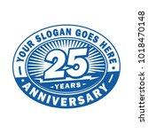 25 years anniversary.... | Shutterstock .eps vector #1018470148