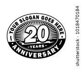 20 years anniversary.... | Shutterstock .eps vector #1018470184