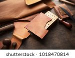 leather craft or leather... | Shutterstock . vector #1018470814