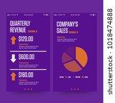 quarterly reveunue and conpany... | Shutterstock .eps vector #1018474888