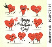 heart  vector cartoon... | Shutterstock .eps vector #1018479454