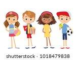 set of cute children | Shutterstock .eps vector #1018479838