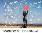 astrology zodiac signs  dreams | Shutterstock . vector #1018483069