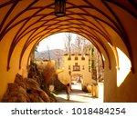 impressive romanesque arch and...   Shutterstock . vector #1018484254