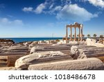 ruins of apollo temple in side... | Shutterstock . vector #1018486678