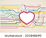 Subway Map In Heart Shape.Subway Map Free Vector Art 12 433 Free Downloads
