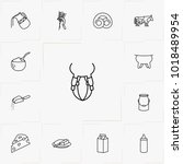 bread and milk line icon set | Shutterstock .eps vector #1018489954