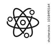 react native vector icon. atom... | Shutterstock .eps vector #1018490164