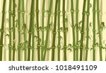 bamboo forest seamless pattern. ... | Shutterstock .eps vector #1018491109