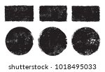 set of grunge post stamps... | Shutterstock .eps vector #1018495033