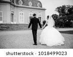 black and white photo. european ... | Shutterstock . vector #1018499023