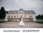 european wedding in an old... | Shutterstock . vector #1018499059