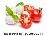 italian mozzarella cheese and... | Shutterstock . vector #1018502344