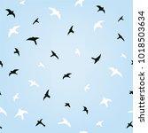 birds in the sky flying... | Shutterstock .eps vector #1018503634