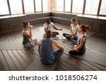 african american yoga... | Shutterstock . vector #1018506274