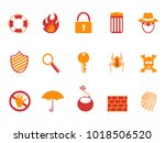 orange and red color security... | Shutterstock .eps vector #1018506520