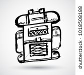 hand drawn textured backpack... | Shutterstock .eps vector #1018508188