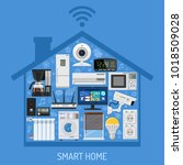 smart home and internet of... | Shutterstock .eps vector #1018509028