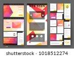 website template design with... | Shutterstock .eps vector #1018512274