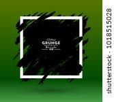 grunge background. brush black... | Shutterstock .eps vector #1018515028