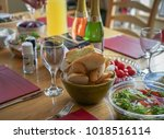 editorial use only  dining room ... | Shutterstock . vector #1018516114