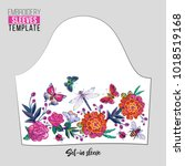 embroidery patches flowers and... | Shutterstock .eps vector #1018519168