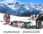 sale of souvenirs  clothes ... | Shutterstock . vector #1018522108