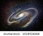 illustration of a galaxy in... | Shutterstock . vector #1018526068