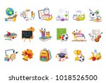 school and eduction related... | Shutterstock .eps vector #1018526500