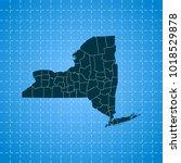 map of new york   Shutterstock .eps vector #1018529878