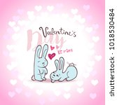 valentines day lettering card... | Shutterstock .eps vector #1018530484