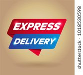 express delivery arrow tag sign. | Shutterstock .eps vector #1018530598