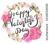happy valentine's day. card to...   Shutterstock .eps vector #1018534030