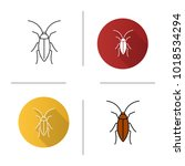 cockroach icon. flat design ... | Shutterstock . vector #1018534294