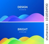 bright design for corporate and ... | Shutterstock .eps vector #1018534930