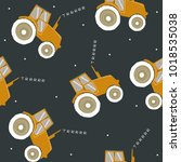 seamless pattern with cool... | Shutterstock .eps vector #1018535038