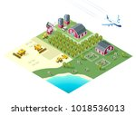 set of isolated high quality... | Shutterstock .eps vector #1018536013